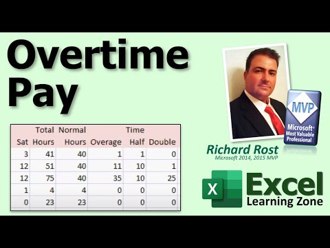 microsoft excel tutorial calculating overtime pay for