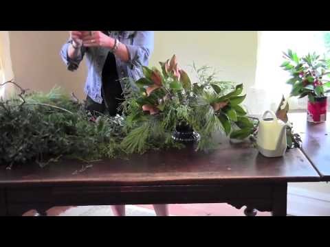 Holiday Floral Design with Everyday Garden Plants