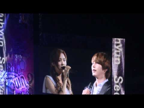 110903 SMTown Tokyo Kyuhyun and Seohyun Duet Way Back Into Love