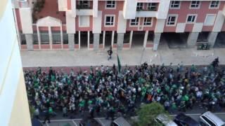 O maior corredor de adeptos da história do futebol em Portugal - Sporting CP (9-11-2013)