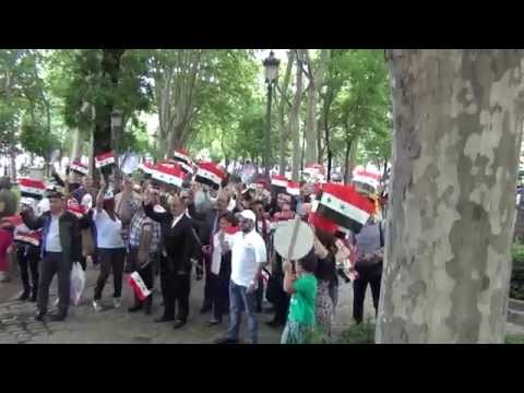 Syrian elections in madrid 2014