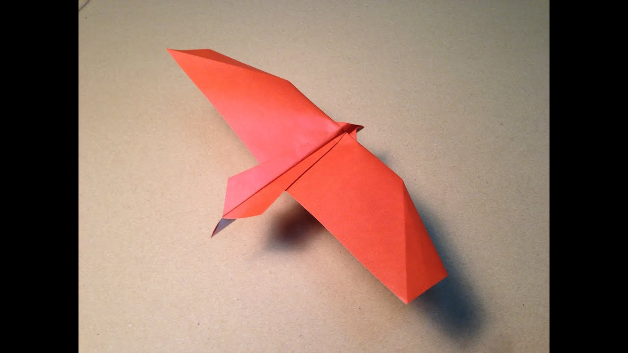 how to make an origami plane bald eagle youtube