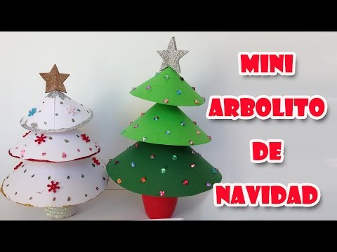 Manualidades de navidad - Mini arbolito de navidad Little christmas tree