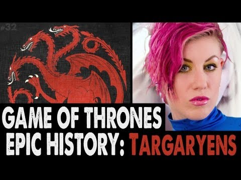 Game of Thrones EPIC HISTORY: The Targaryens, The Long back history of House Targaryen is dramatically explained and how it led up to the events of Game of Thrones Season one and two.