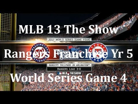 MLB 13 The Show Texas Rangers Franchise Yr 5   World Series gm 4 vs Washington Naionals