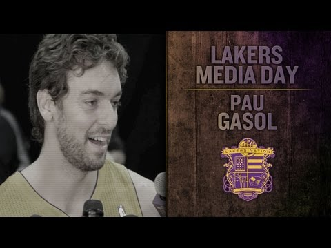 Lakers Media Day: Pau Gasol On His Injury, Chris Kaman, and Kobe's High Dive