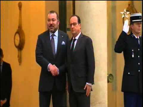الرئيس الفرنسي يستقبل الملك محمد السادس