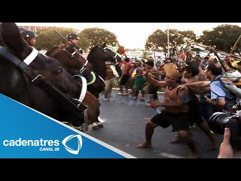 Siguen las protestas en Brasil (VIDEO) / Protests continue in Brazil