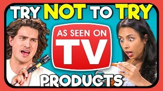 YouTubers React To Try Not To Try Challenge - As Seen On TV Products