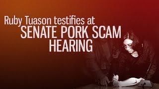 Ruby Tuason Testifies at Senate Pork Scam Hearing