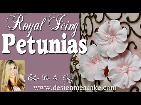 Royal Icing Petunias