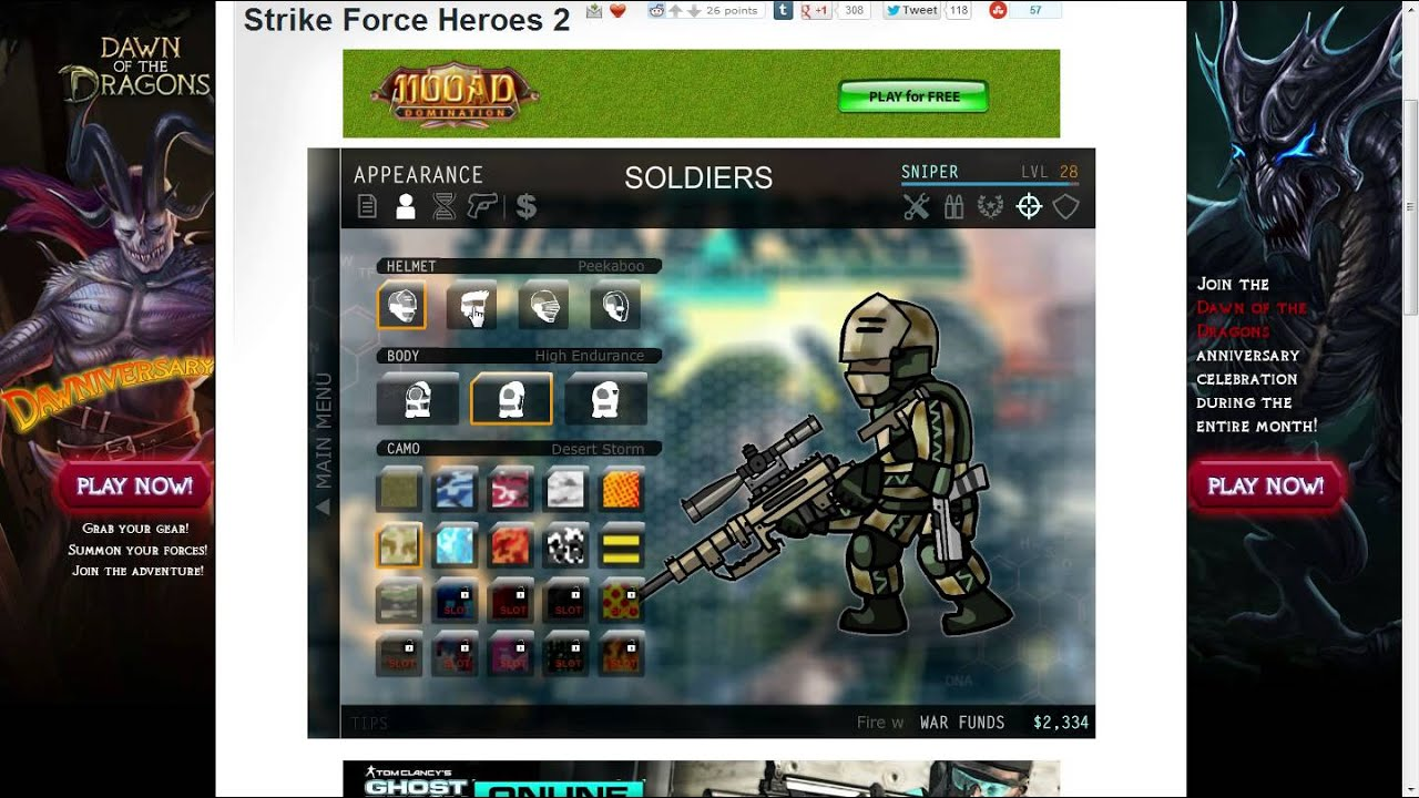 Strike force heroes 2 gun collection for sniper youtube