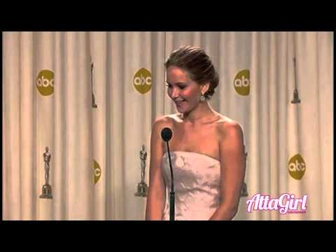 Jennifer Lawrence Speak Backstage @The Oscars 2013