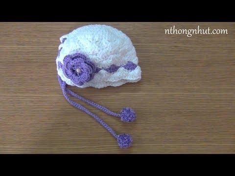 Cách móc nón len cho bé sơ sinh
