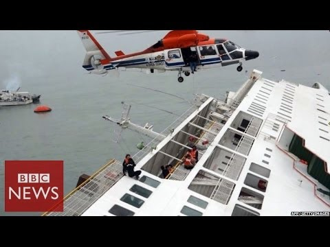 South Korea ferry carrying 450 people sinks