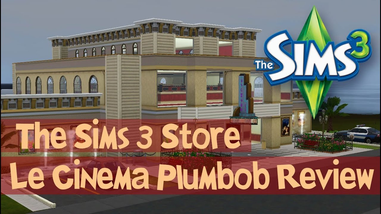 the sims 3 store le cinema plumbob overview review. Black Bedroom Furniture Sets. Home Design Ideas