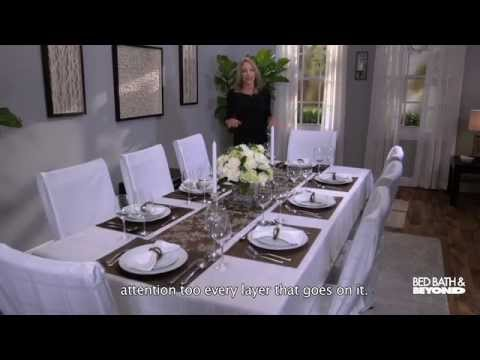Dress up your dining room table youtube for Dining table dressing