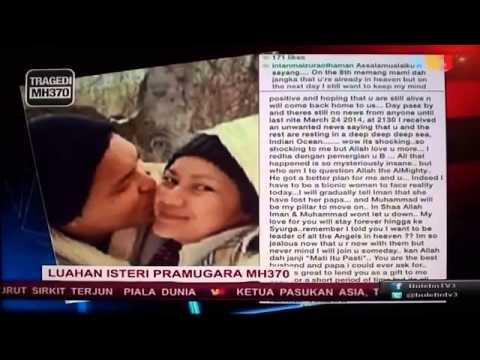 #MH370 Sad Steward's Wife Status on Instagram