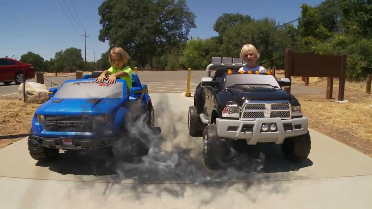 power wheels truck race dodge ram vs ford 150 raptor youtube. Cars Review. Best American Auto & Cars Review