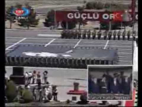 Turkish Army Parade. With songs and anthems.
