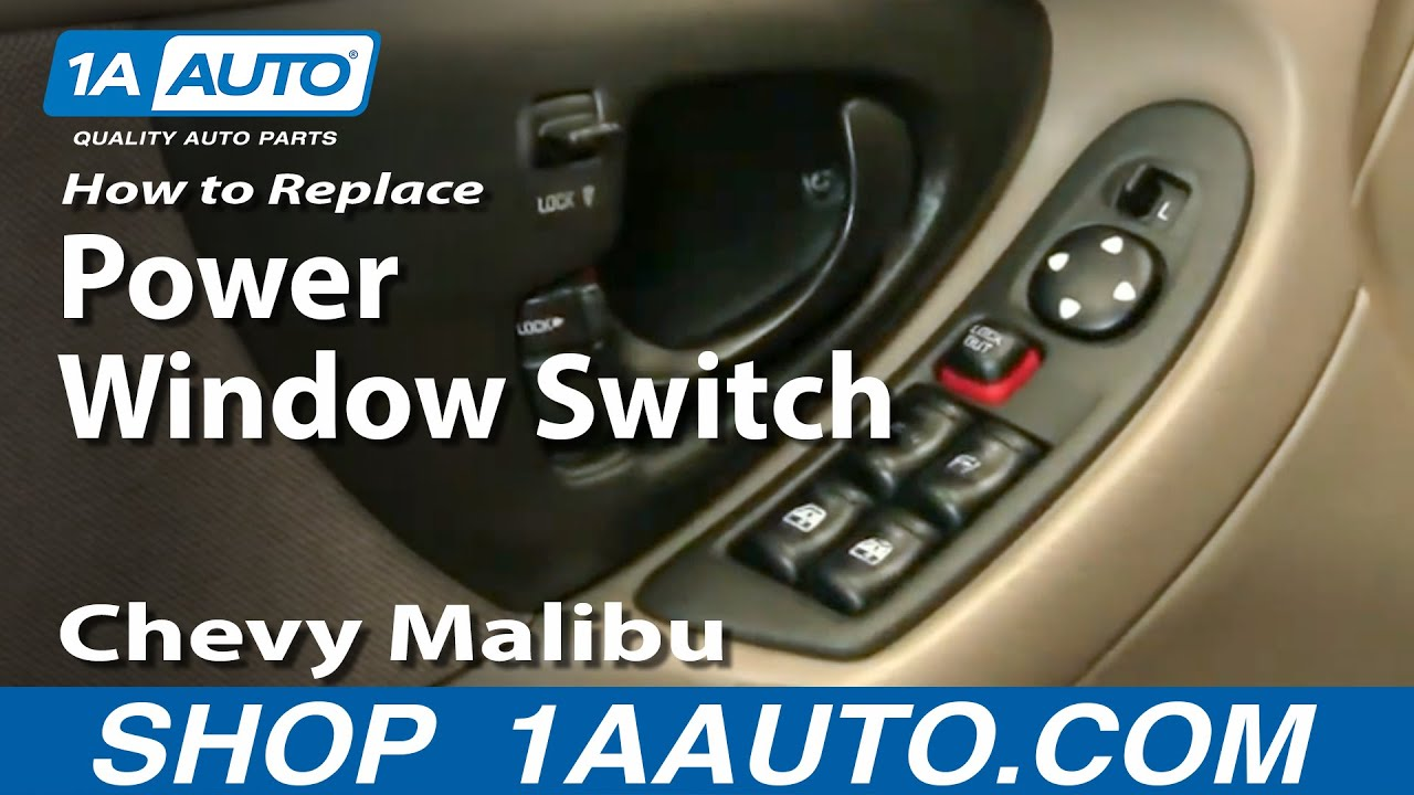 How To Install Replace Broken Power Window Switch Chevy