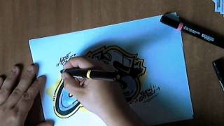 Graffiti Paso A Paso Coloreando Un Graffiti Parte-2[ By