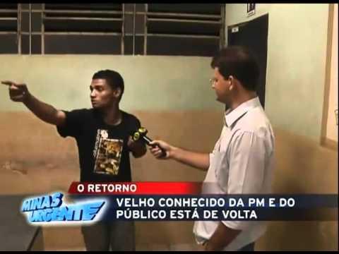 Ladrão Mineiro volta a ser detido reportagem Band (gordinho boiola)