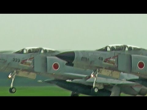 F-4 Phantom II Takeoff Runway 03R HYAKURI AIR BASE JASDF 3rd