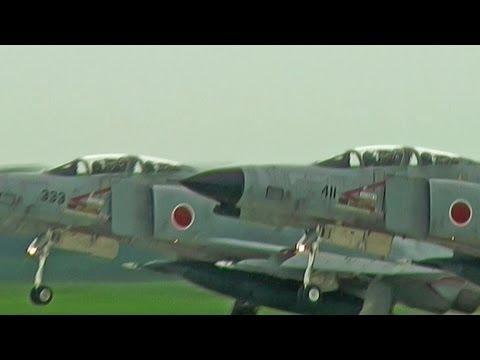 F-4 Phantom II Takeoff Runway 03R HYAKURI AIR BASE JASDF 3rd