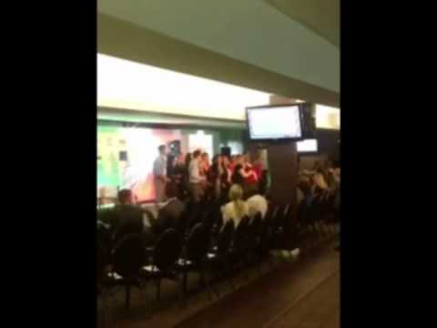 Flash mob performs 'Higher and Higher' at Social Enterprise Wales Conference 2013
