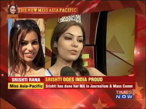 Srishti Rana does India proud new Miss Asia Pacific World by Times Group