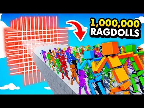 MASSIVE LASER SHREDDER vs 1,000,000 RAGDOLLS (Fun With Ragdolls: The Game Funny Gameplay)