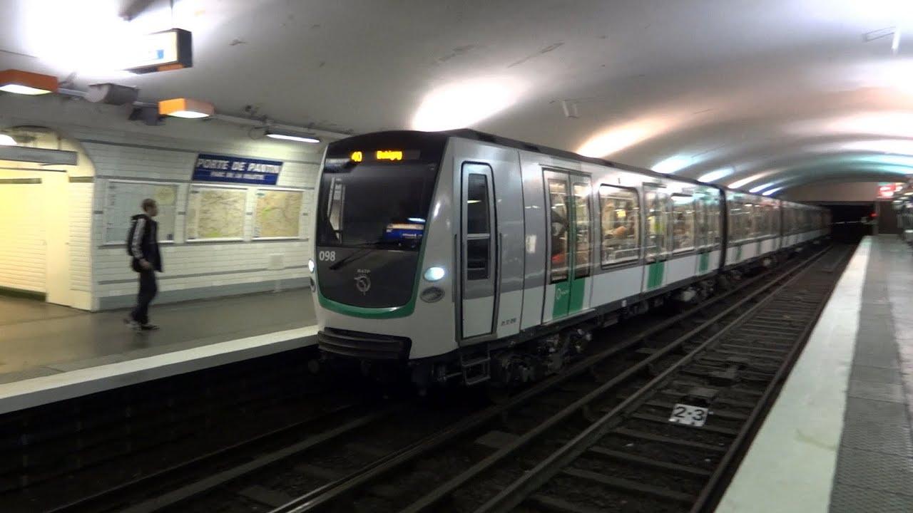 Paris metro mf 01 stif porte de pantin youtube - Fourriere porte de pantin ...