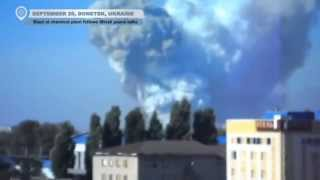 Donetsk Chemical Plant Explosion: Dramatic Images Just