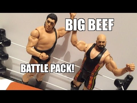 WWE ACTION INSIDER: Big Show Vs Andre the Giant Mattel Battle Pack Wrestling Figures