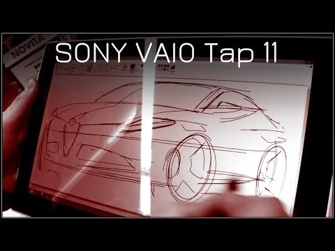 Sony Vaio Tap 11 | drawing test
