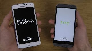 Samsung Galaxy S5 vs. HTC One M8 - Which Is Faster?