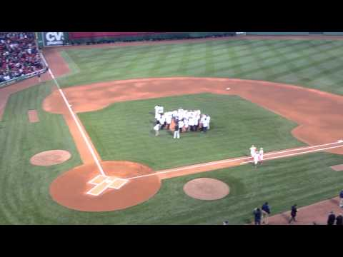 Manny Ramirez first pitch to Jason Varitek via Johnny Damon