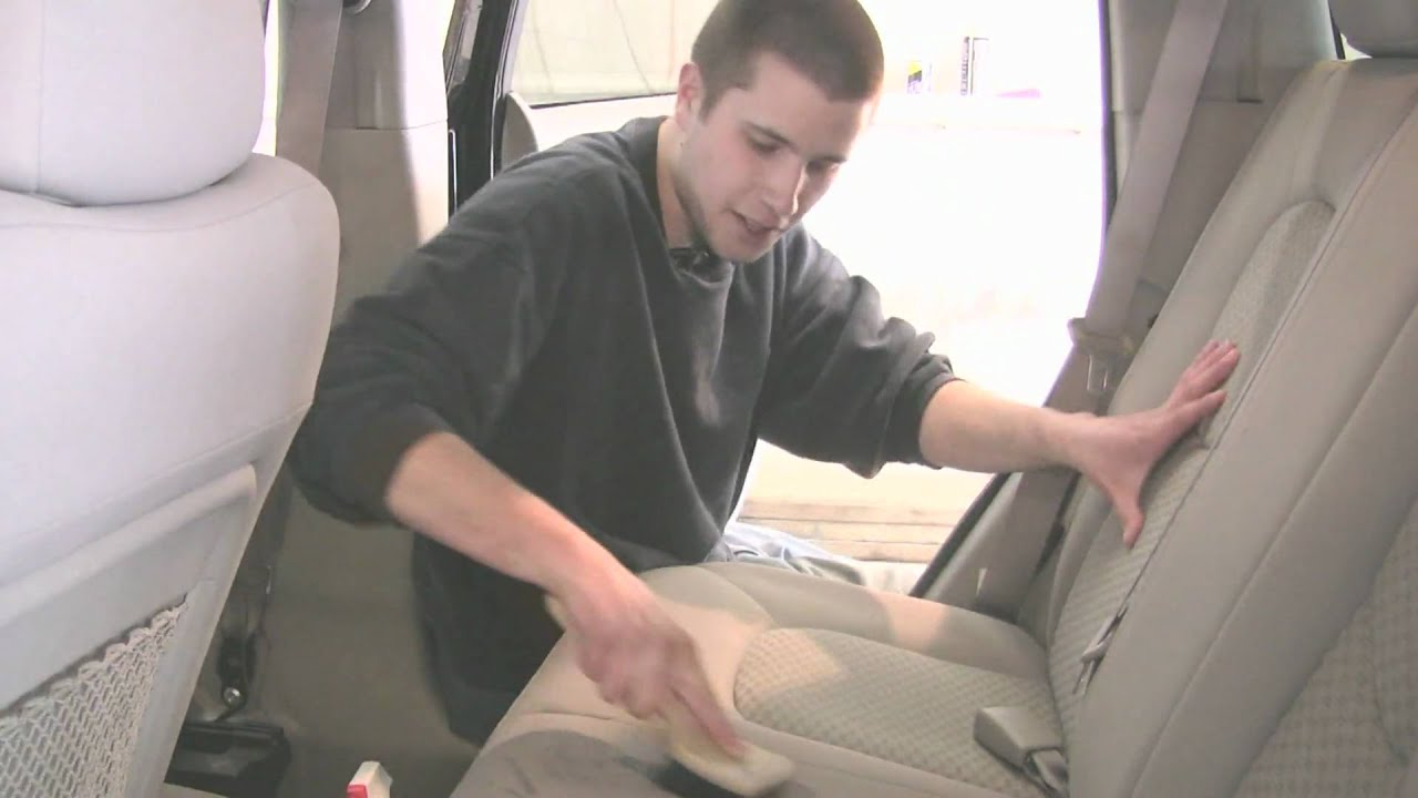 auto detailing how to clean upholstery in a car with home remedies youtube. Black Bedroom Furniture Sets. Home Design Ideas