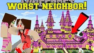 Minecraft: THE WORST NEIGHBOR EVER!! (HELLO JEN!) Custom Map
