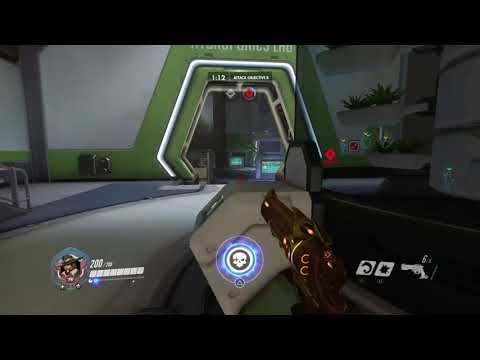 Twin Sombra doing a Moonwalk Overwatch Funny clip