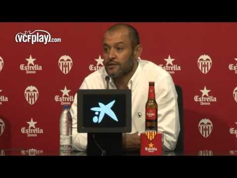 Valencia CF: Nuno: 'Mestalla ha superado todas nuestras expectativas'