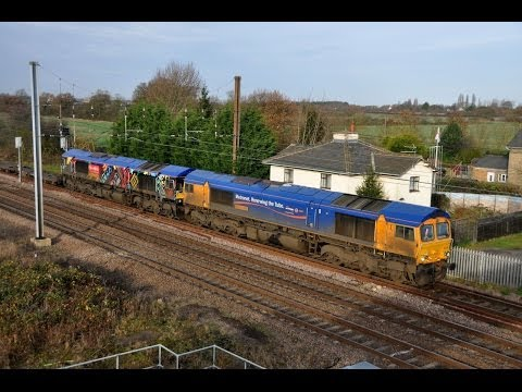 Marholm feat 'Union Of South Africa', LUL 66718, and Class 66 Convoy