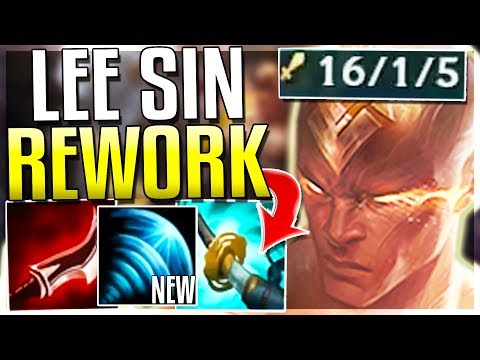 NEW LEE SIN Q ONE-SHOTS ANYONE!? #1 ASSASSIN NOW!? - Lee Sin Rework Gameplay - League of Legends