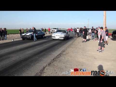 AOP Magna Charged Mustang vs 67 & 69 Nitrous Camaro's