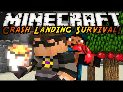 Minecraft Modded Crash Landing : LAVA AND TREE FARMS?!