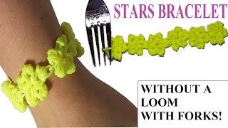 NEW! HOW TO MAKE STARS BRACELET WITH 2 FORKS