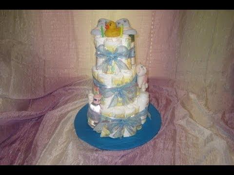 ideas para baby shower como hacer un pastel con panales aleliamada