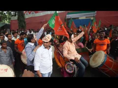 Narendra Modi for PM - Party workers celebrate