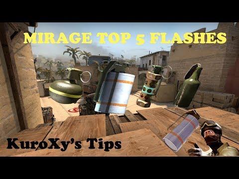 KuroXy's CS:GO Tips #1 [Mirage Top 5 Flash]
